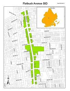 Flatbush Avenue BID map